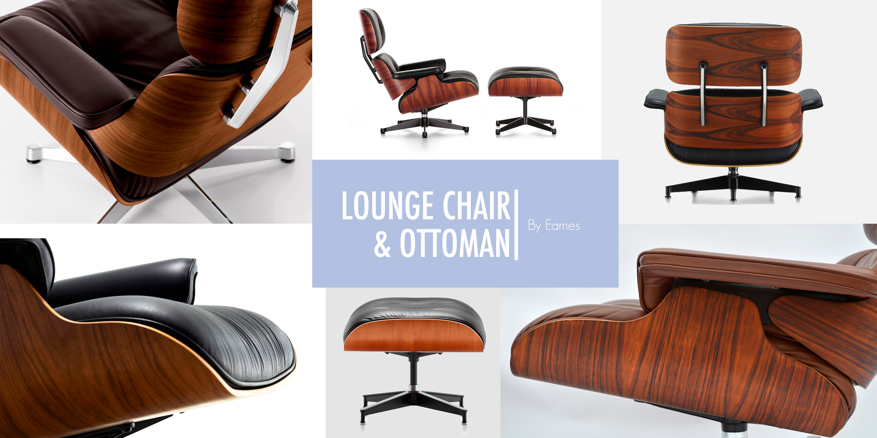 Lounge Chair & Ottoman by Eames